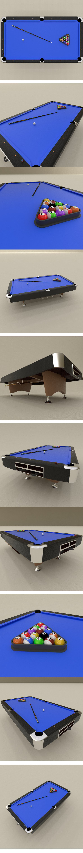 Billard table set - 3DOcean Item for Sale