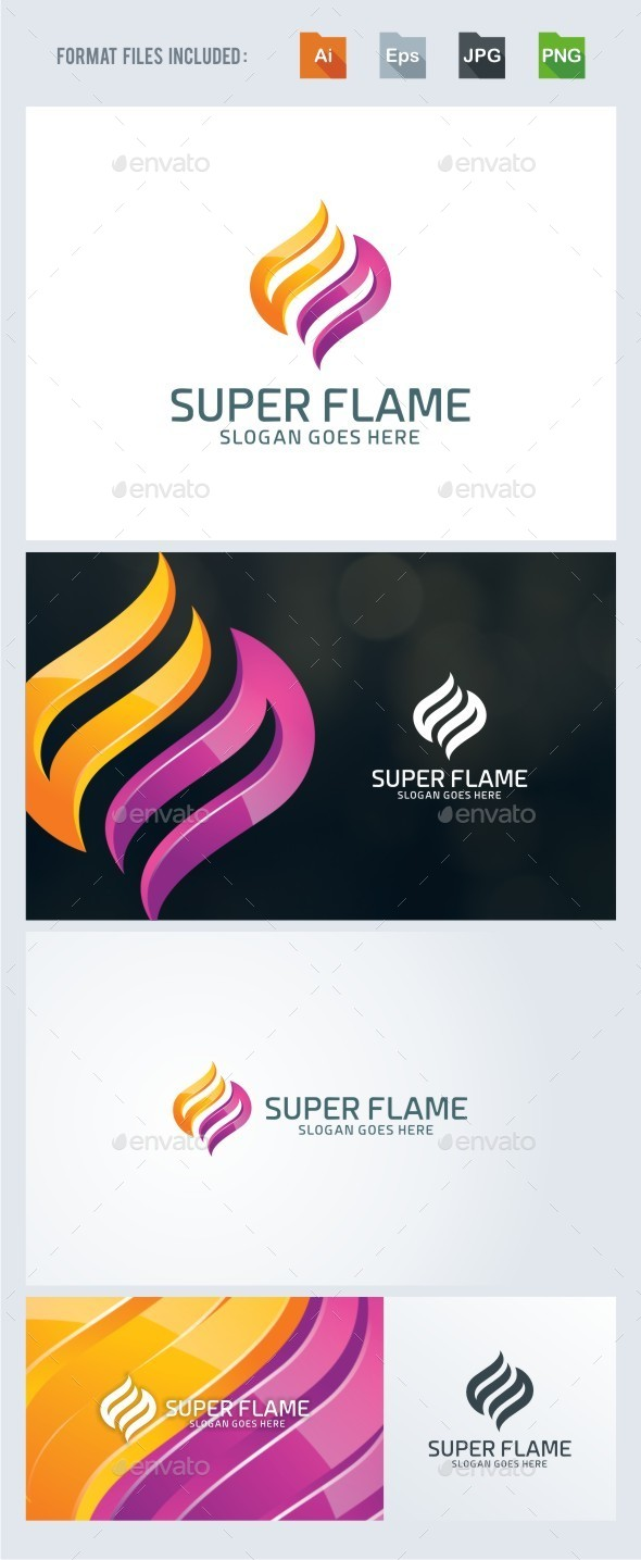 Super Flame Logo Template - Abstract Logo Templates