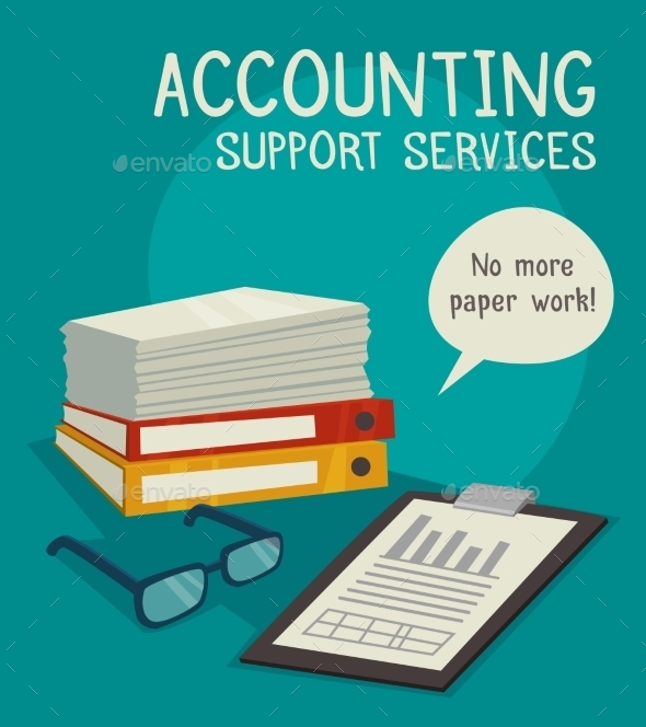 Accounting Support Services Concept  - Concepts Business