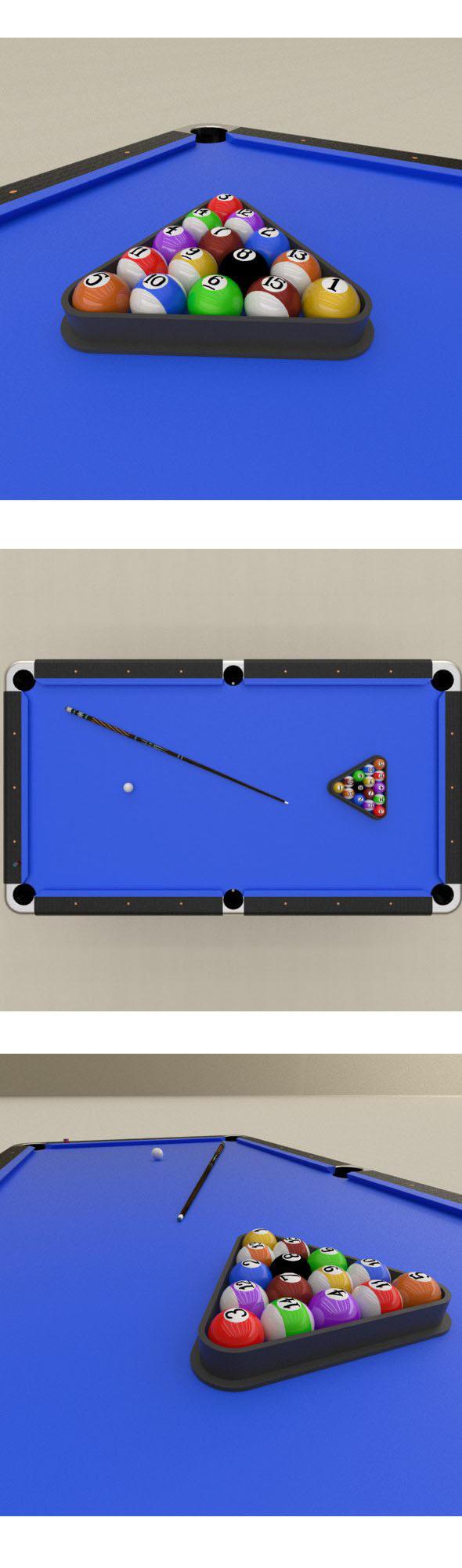 Billard balls set - 3DOcean Item for Sale