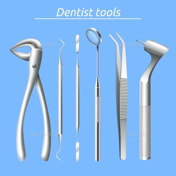 Dentist Tools Set - Health/Medicine Conceptual