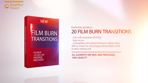 Film Burn Transitions By Pizzaeffect Videohive