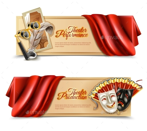 Theatre Performance Banners Set - Conceptual Vectors
