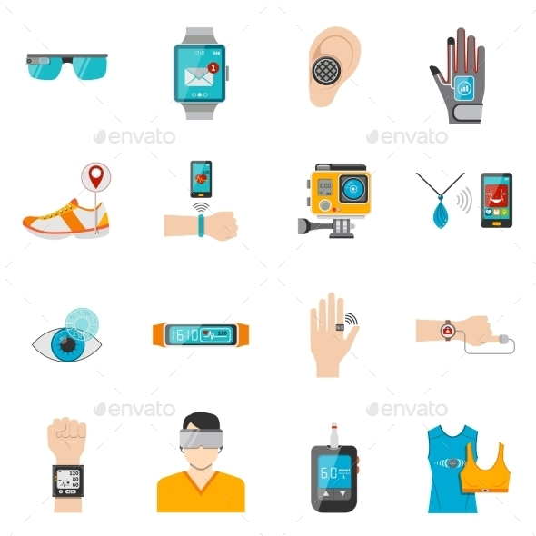 Wearable Technology Icons Set - Technology Icons