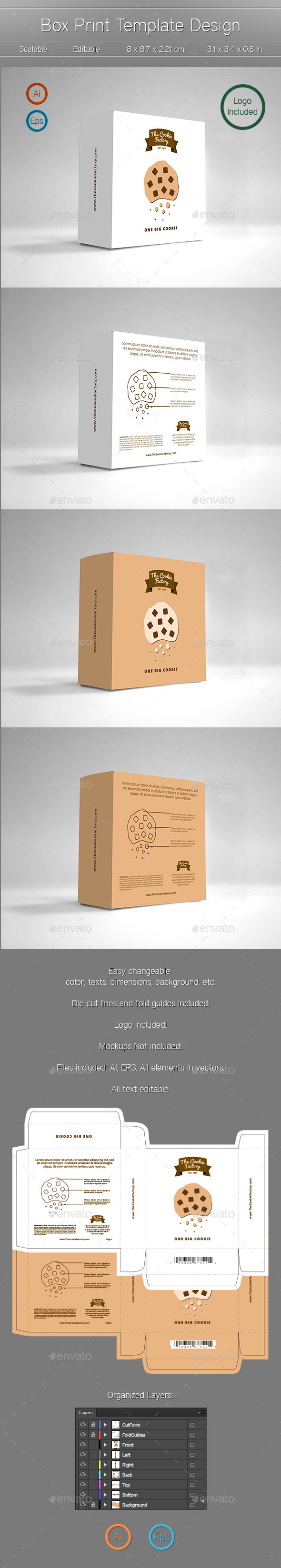 Box Design - Packaging Print Templates