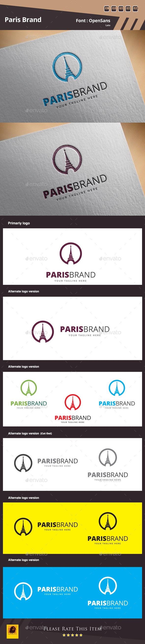 Paris Brand logo - Symbols Logo Templates