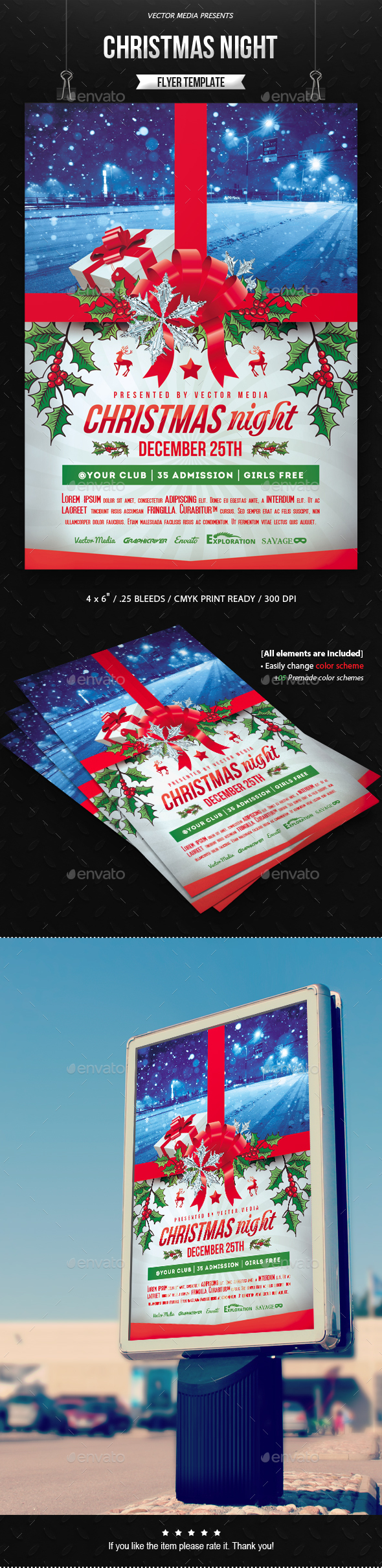 Christmas Night - Flyer - Holidays Events