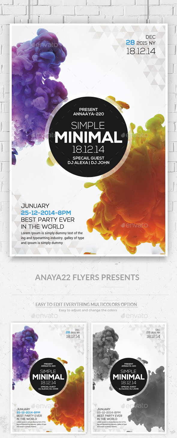 Simple Minimal Flyer - Clubs & Parties Events