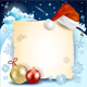 Christmas Background with Parchment and Hat - GraphicRiver Item for Sale