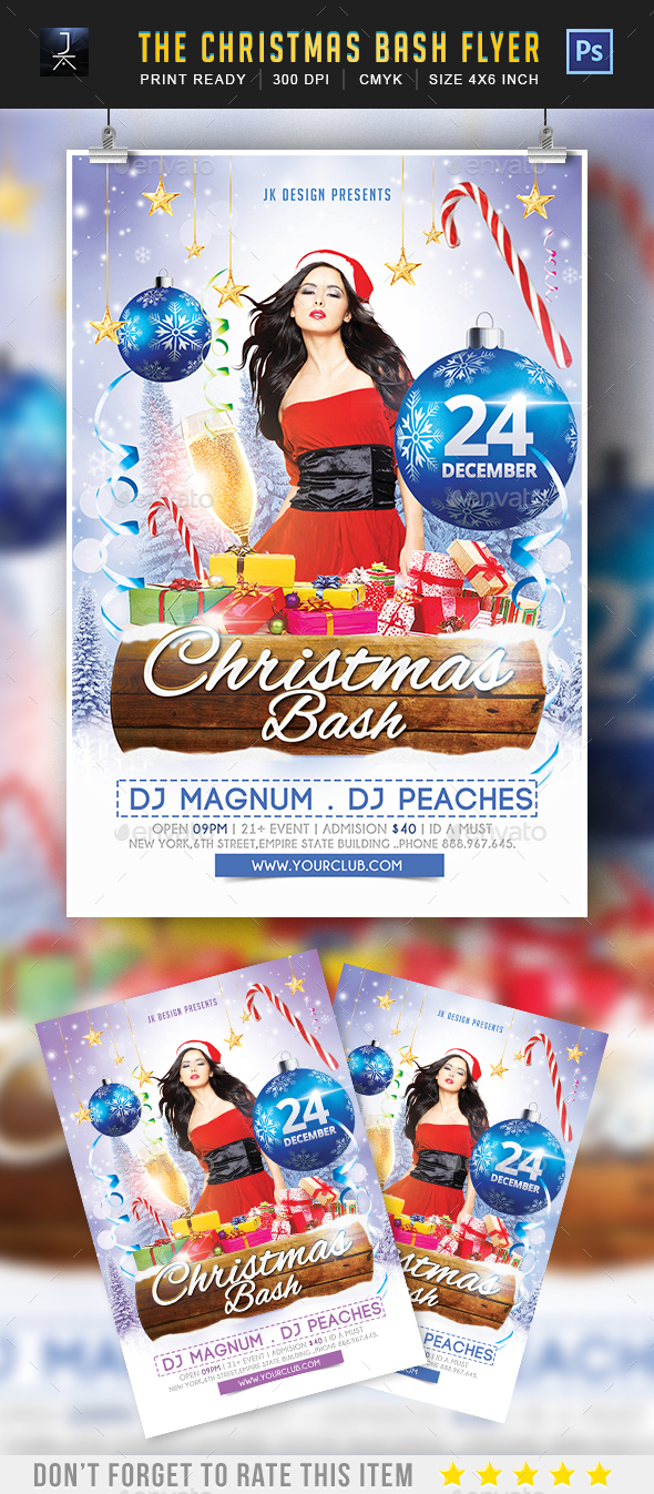 Christmas Bash - Print Templates