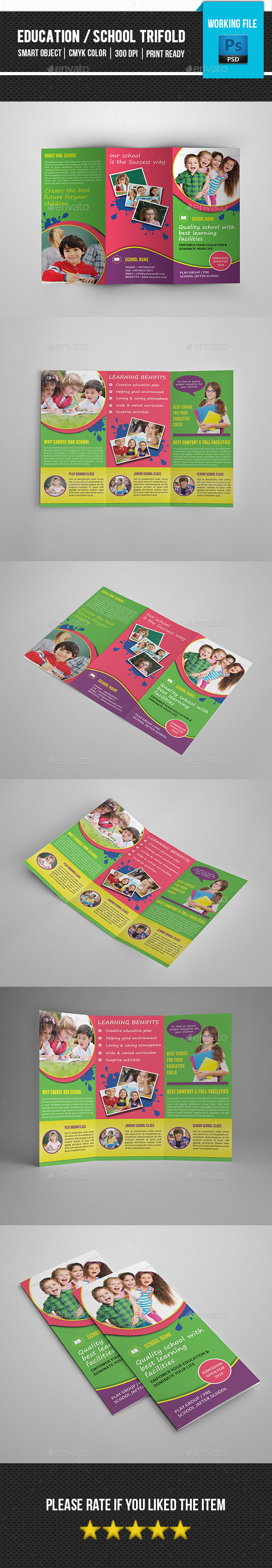 Kids School Trifold Brochure-V269 - Corporate Brochures