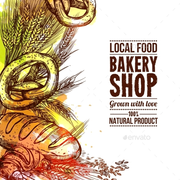 Bakery Hand Drawn Illustration - Food Objects