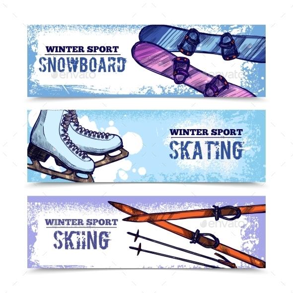 Winter Sport Banner Set - Sports/Activity Conceptual
