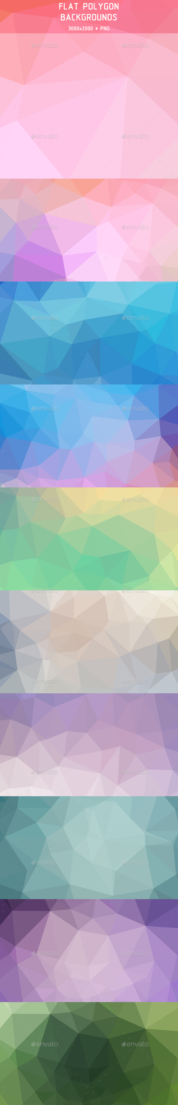 Flat Polygon Backgrounds - Abstract Backgrounds