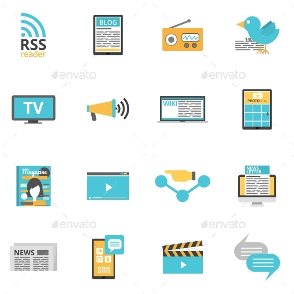 Media Icons Set  - Media Icons