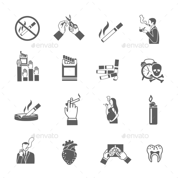 Smoking Icons Set - Objects Icons