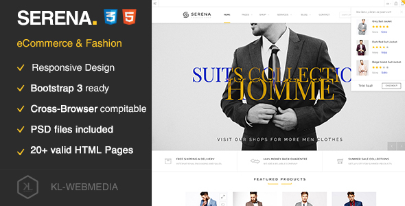 Serena - eCommerce Fashion Template HTML5 - Fashion Retail