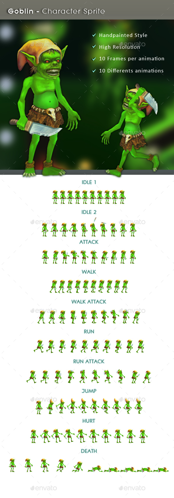 Goblin - Character Sprite - Sprites Game Assets