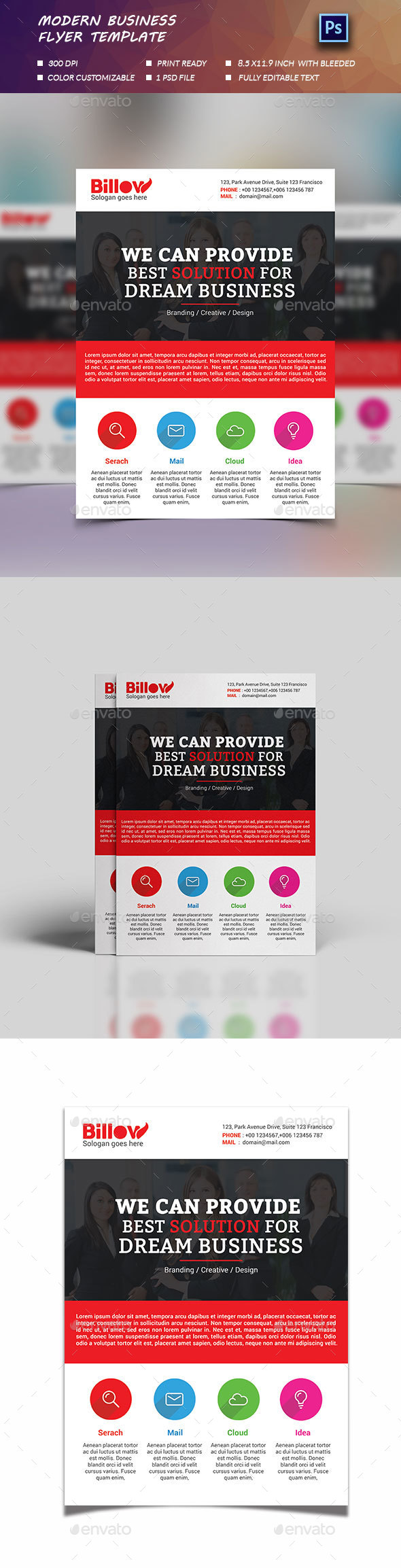 Modern Business Flyer Template - Flyers Print Templates
