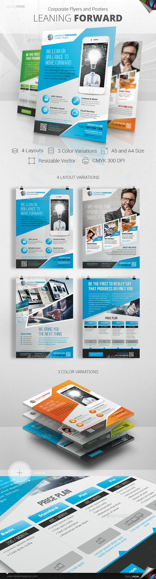 Flyer and Poster - Leaning Forward - Corporate Flyers