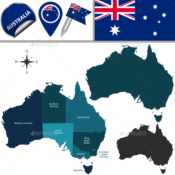 Map of Australia - Travel Conceptual