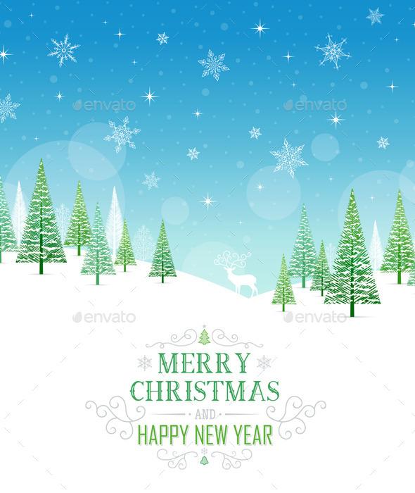 Christmas Card - Illustration. - Christmas Seasons/Holidays