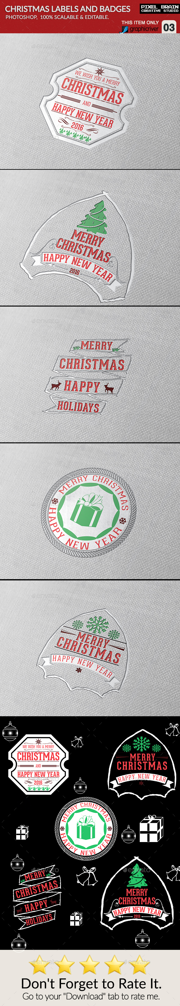 Christmas labels and badges - Badges & Stickers Web Elements