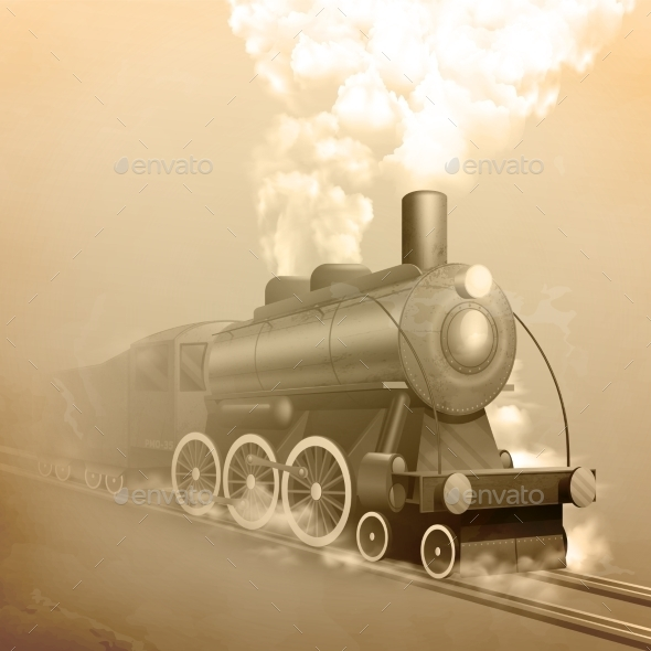 Old Style Locomotive - Miscellaneous Vectors