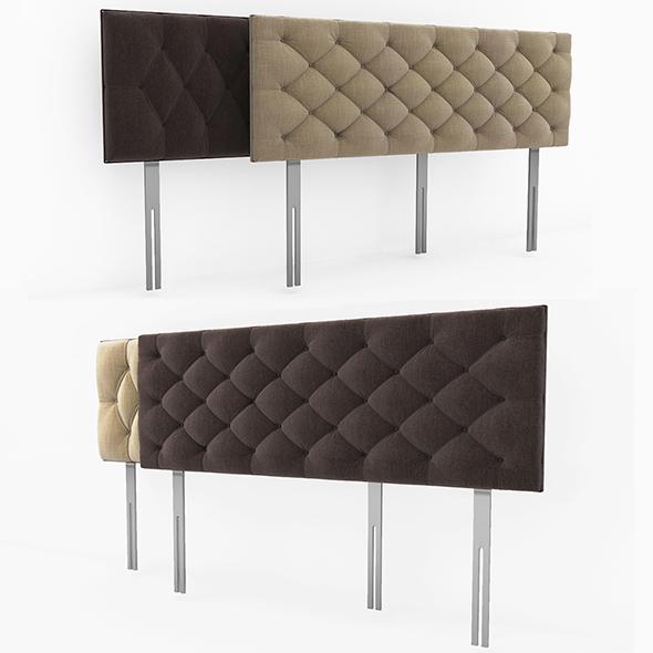 Headboard Bed - 3DOcean Item for Sale