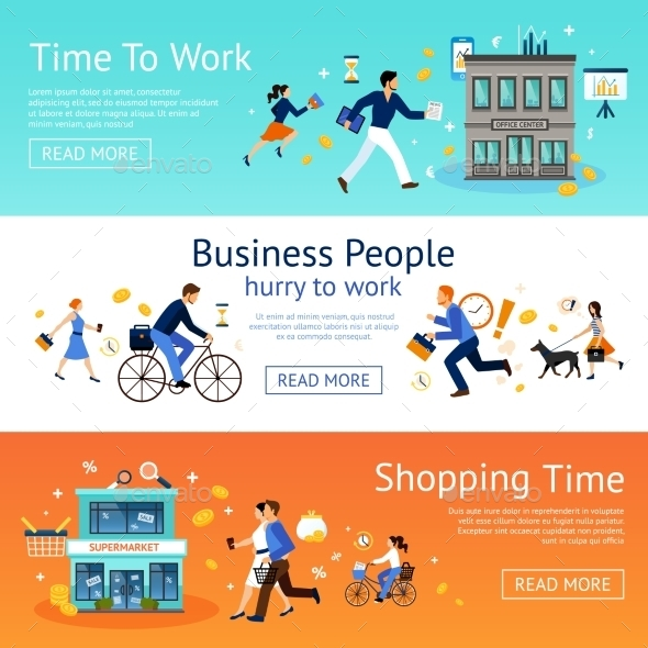 Business People Banner Set - Business Conceptual