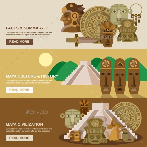 Maya Banner Set - Backgrounds Decorative