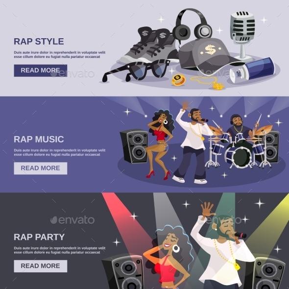 Rap Music Banner - Miscellaneous Vectors