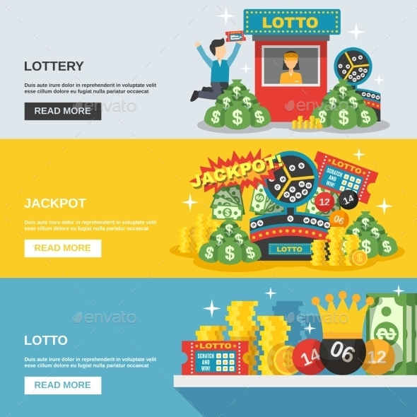 Lottery Banner Set - Miscellaneous Vectors