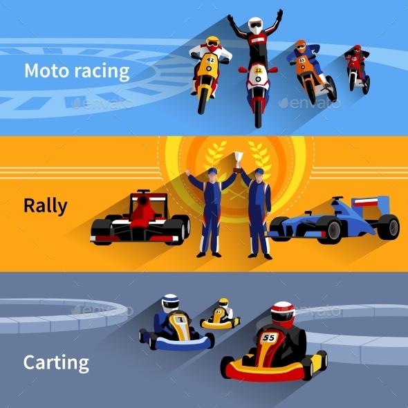 Racer Banners Set - Sports/Activity Conceptual