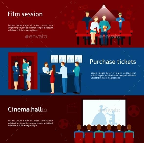 Cinema Banner Set - People Characters