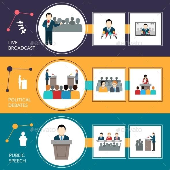 Public Speaking Banner Set - Business Conceptual