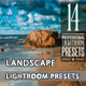 14 Modern Landscape Lightroom Presets - GraphicRiver Item for Sale
