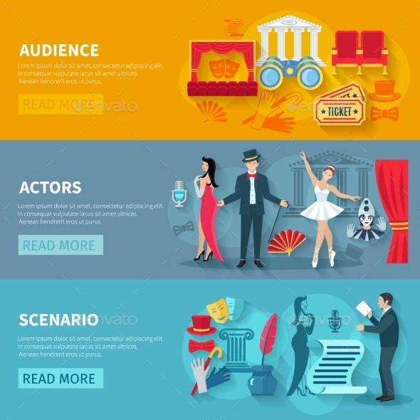 Theater Banner Set - Miscellaneous Vectors