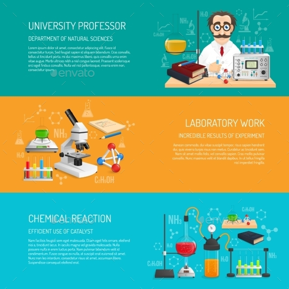 Science Banner Horizontal - Miscellaneous Vectors