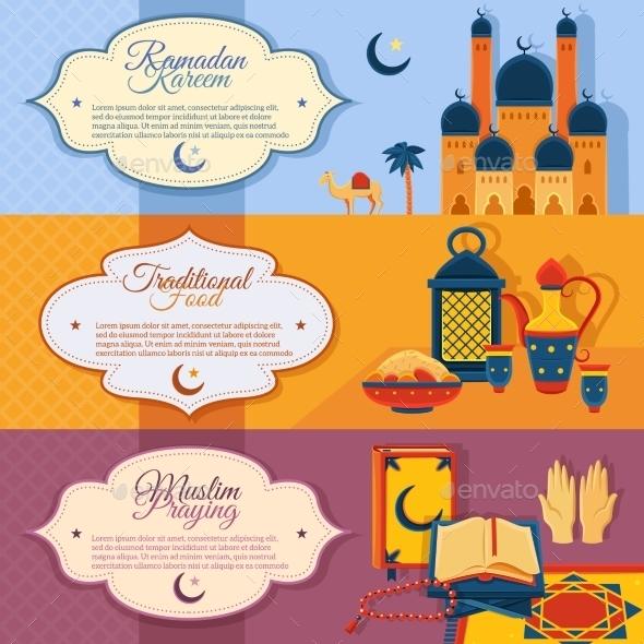 Islam Banners Set - Religion Conceptual