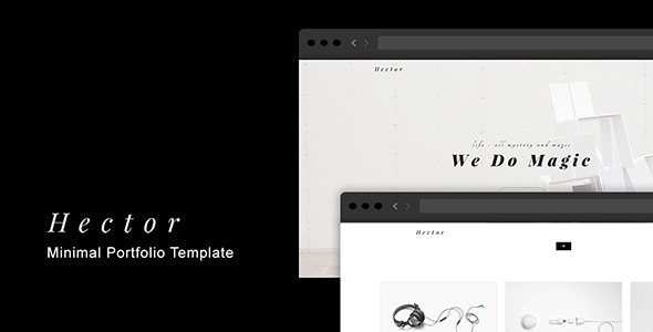 Hector – Minimal Portfolio Template