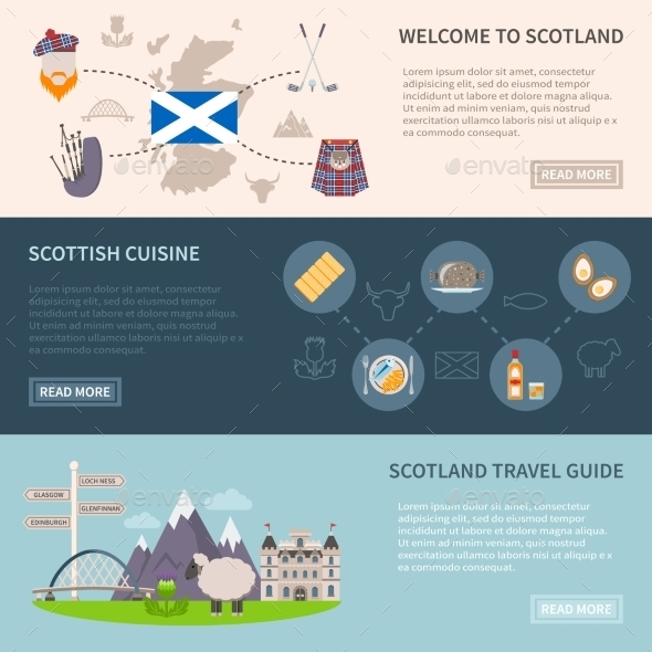 Scotland Banners Set - Travel Conceptual
