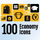 100 Economy Icons Pack - GraphicRiver Item for Sale