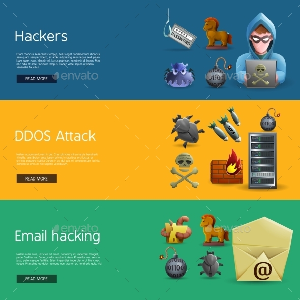 Hacker Activity Banners - Computers Technology