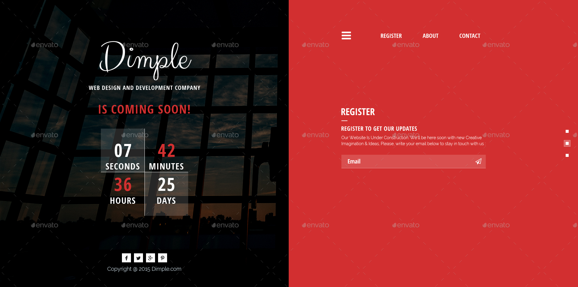Dimple Coming Soon Template By Themeillusion Graphicriver