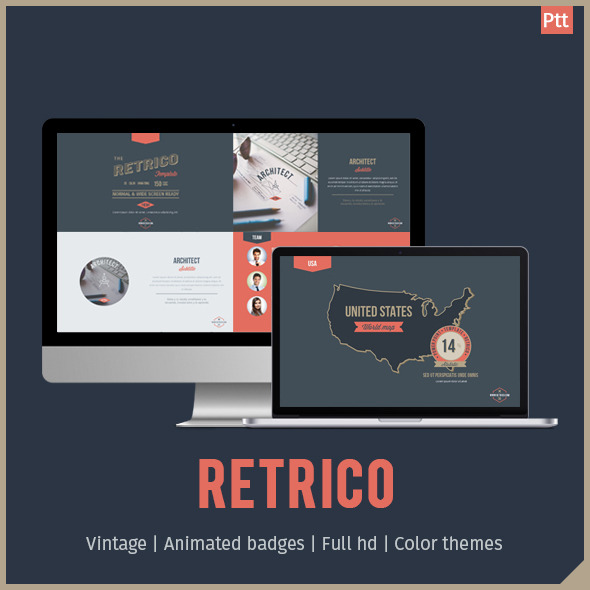 Retrico Retro Style Powerpoint Template By Tit0 Graphicriver