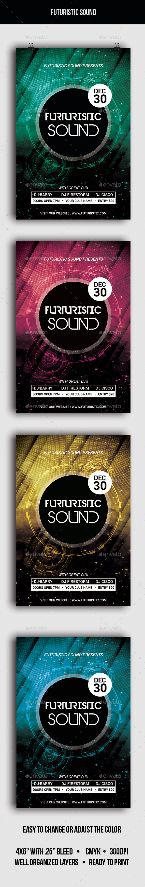 Futuristic Sound - Flyer - Clubs & Parties Events