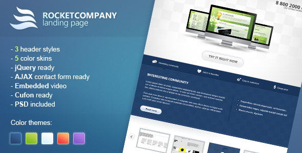 Rocketcompany Landing Page - Creative Site Templates