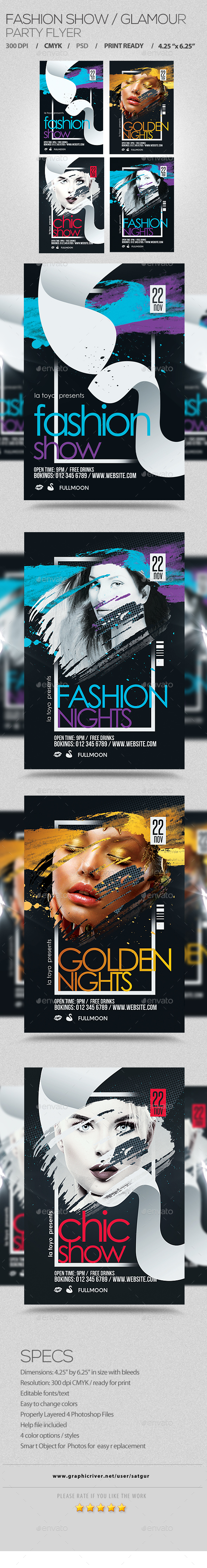 Fashion Show / Glamour Flyer - Clubs & Parties Events