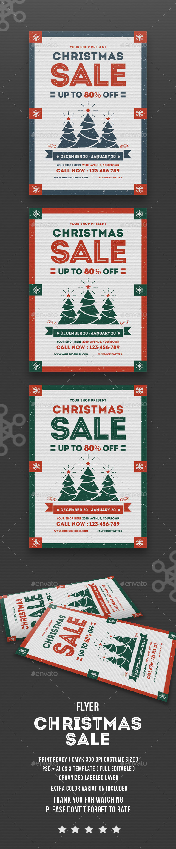 Flyer Christmas Sale - Flyers Print Templates